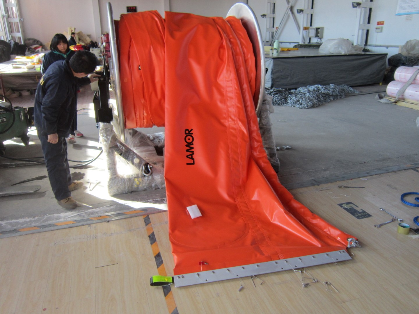 Oil Containment Boom - Inflatable Light Boom